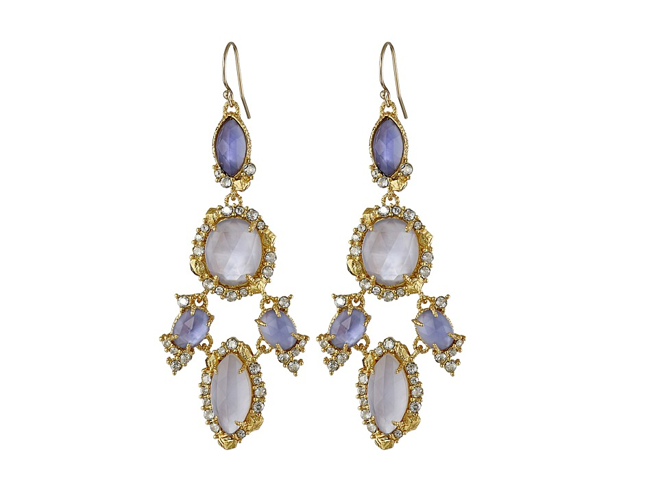 Alexis Bittar - Mosaic Chandelier w/ Custom Cut Iolite Crystal w/ MOP Doublets Earrings (18k Gold) Earring
