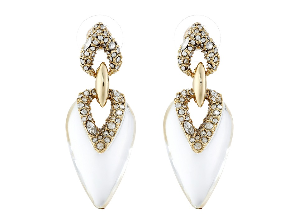 Alexis Bittar - Crystal Encrusted Dangling Post Earrings (Clear) Earring