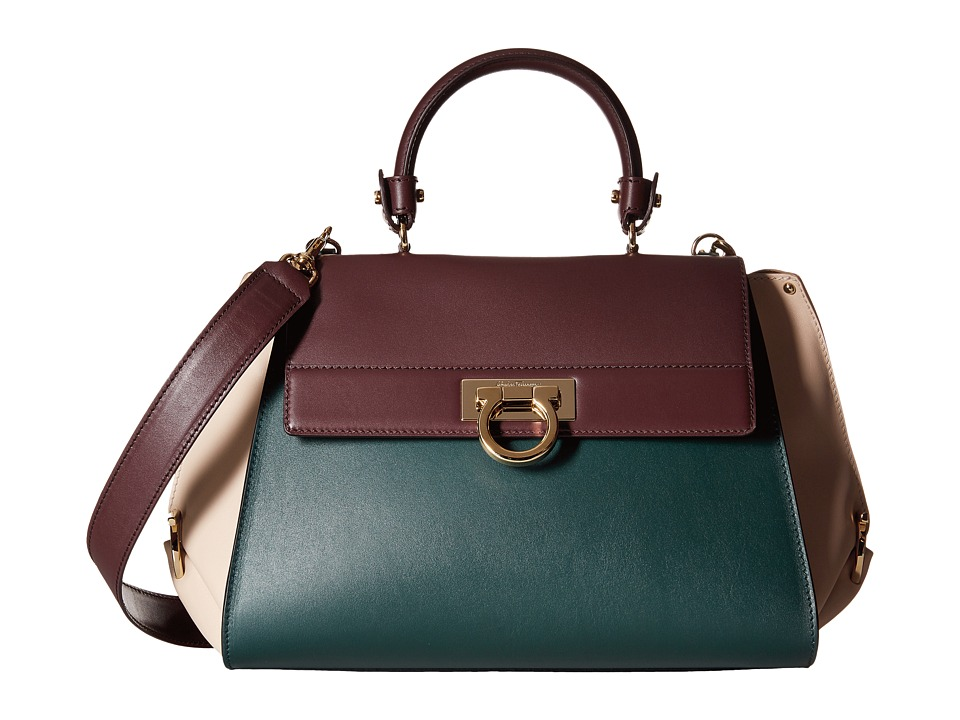Salvatore Ferragamo - 21E530 Sofia (Feuille 1) Satchel Handbags