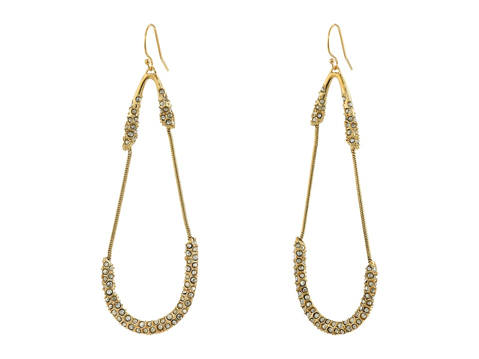 Alexis Bittar - Encrusted Snake Chain Dangling Tear Earrings (10K Gold) Earring