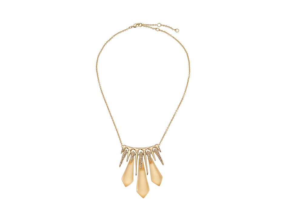 Alexis Bittar - Crystal Encrusted Dangling Spike Pendant Necklace (Gold) Necklace
