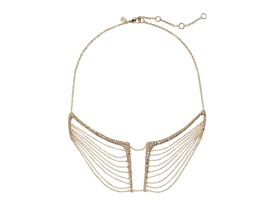 Alexis Bittar - Encrusted Multi-Chain Bib Necklace (10K Gold) Necklace