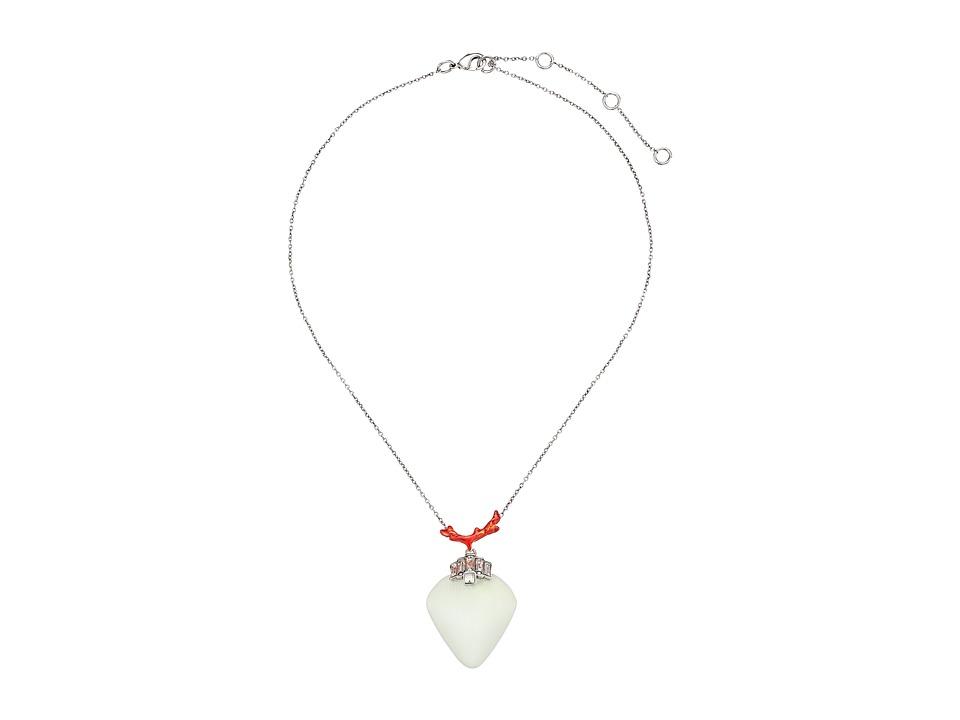 Alexis Bittar - Enamel Accented Bedarra Pendant Necklace (Moonstone) Necklace