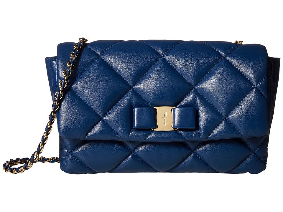 Salvatore Ferragamo - 21E767 Gelly (Sapphire) Handbags