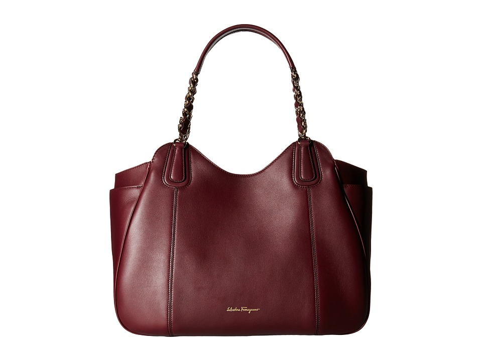 Salvatore Ferragamo - 21F076 Melinda (Rouge Noir) Tote Handbags