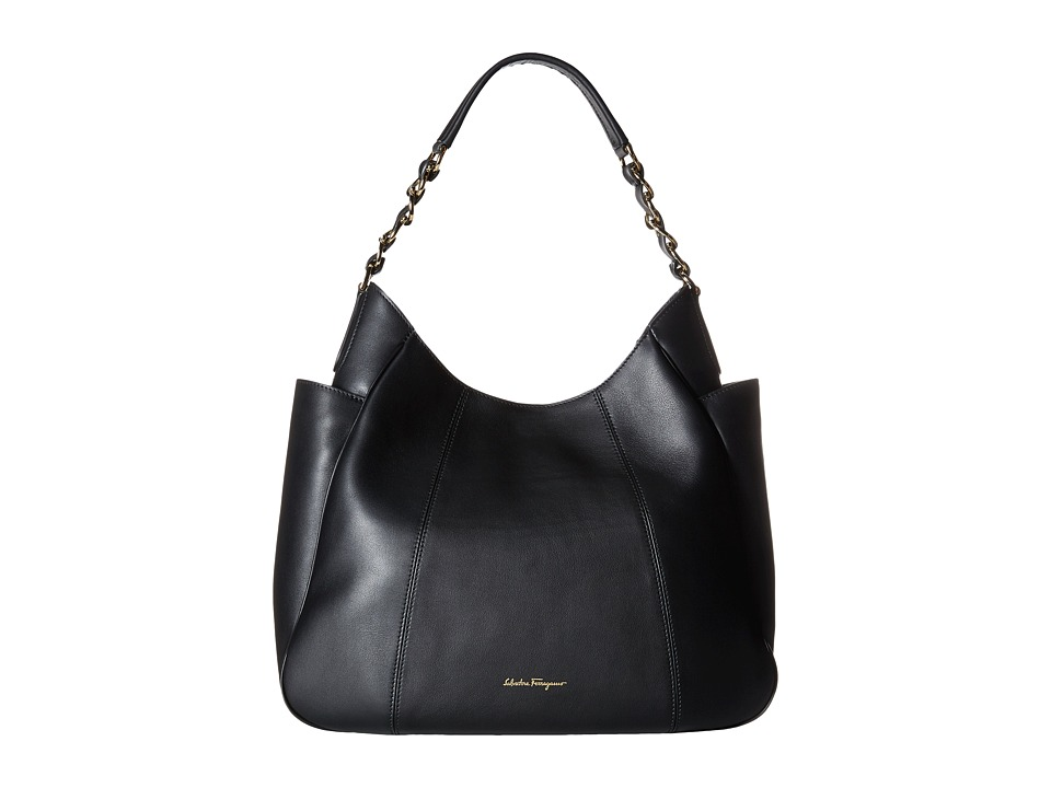 Salvatore Ferragamo - 21F290 Elle (Nero) Tote Handbags