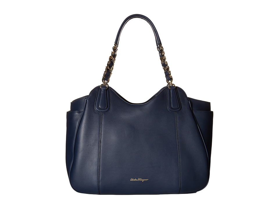 Salvatore Ferragamo - 21F076 Melinda (Oxford Blue) Tote Handbags