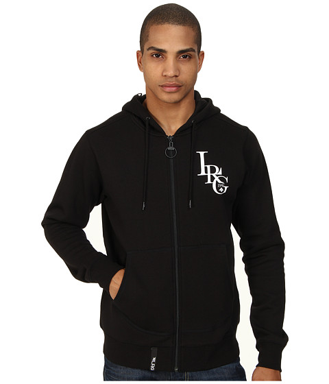 L-R-G - RC Three Letter Zip Hoodie (Black) Men's Sweatshirt