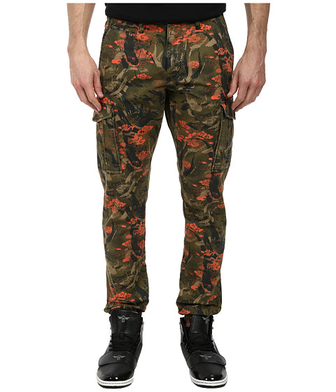 L-R-G - Research Destroy Cargo Jogger Pants (Fir Green Camo) Men's Casual Pants