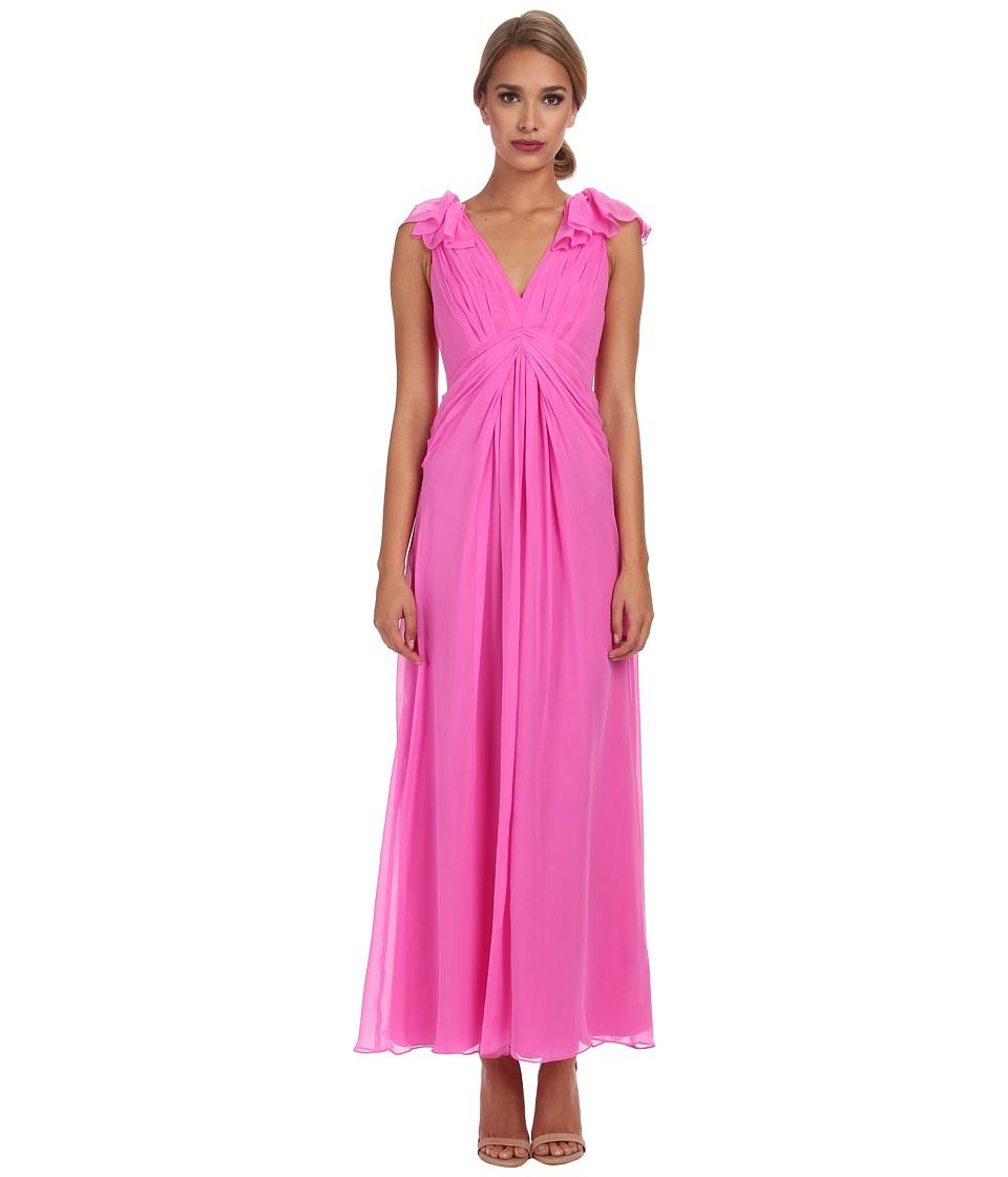 JILL JILL STUART Alexandria Draped Silk Chiffon Gown (Pink) Women