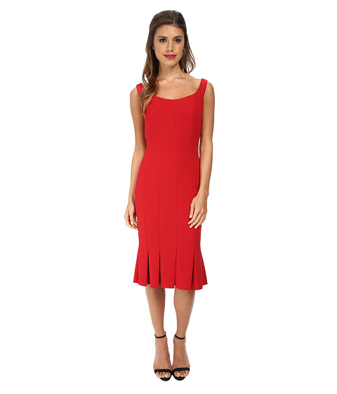 JILL JILL STUART - Scoop Neck Fitted Elastane Dress (Red) Women