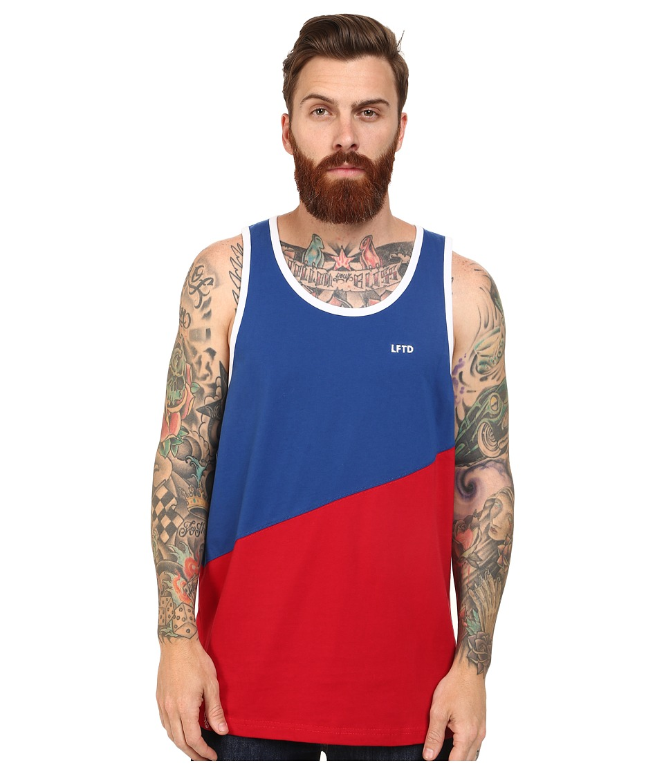 L-R-G - RC Block Tank Top (49er Red) Men's Sleeveless