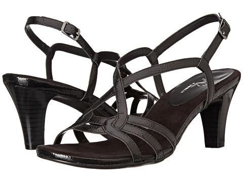 Aerosoles - Power Move (Black Patent) Women's Toe Open Shoes
