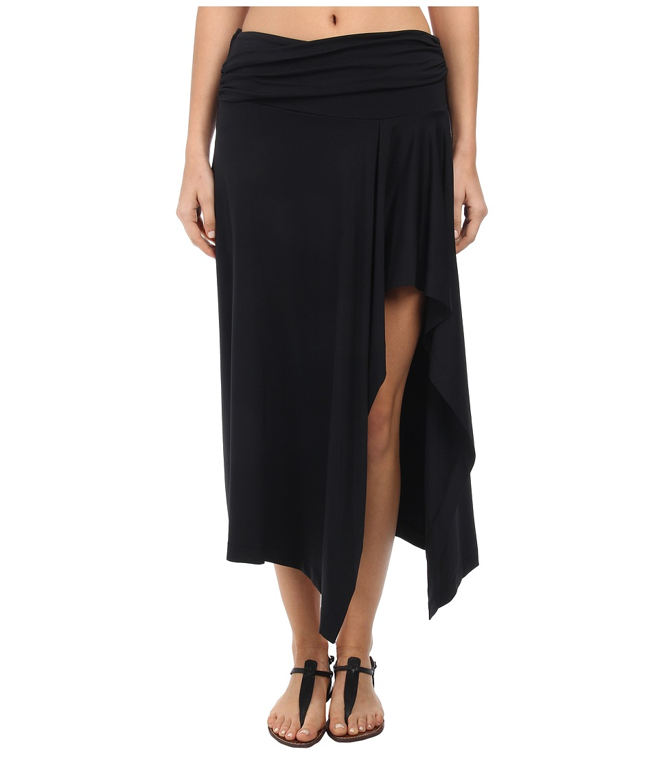 Michael Kors - Draped Cover-Up Skirt (Black) Women's Swimwear plus size,  plus size fashion plus size appare