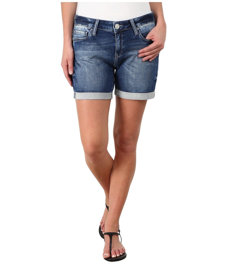 Mavi Jeans - Pixie Mid Rise Boyfriend Shorts in Mid Sporty (Mid Sporty) Women's Shorts