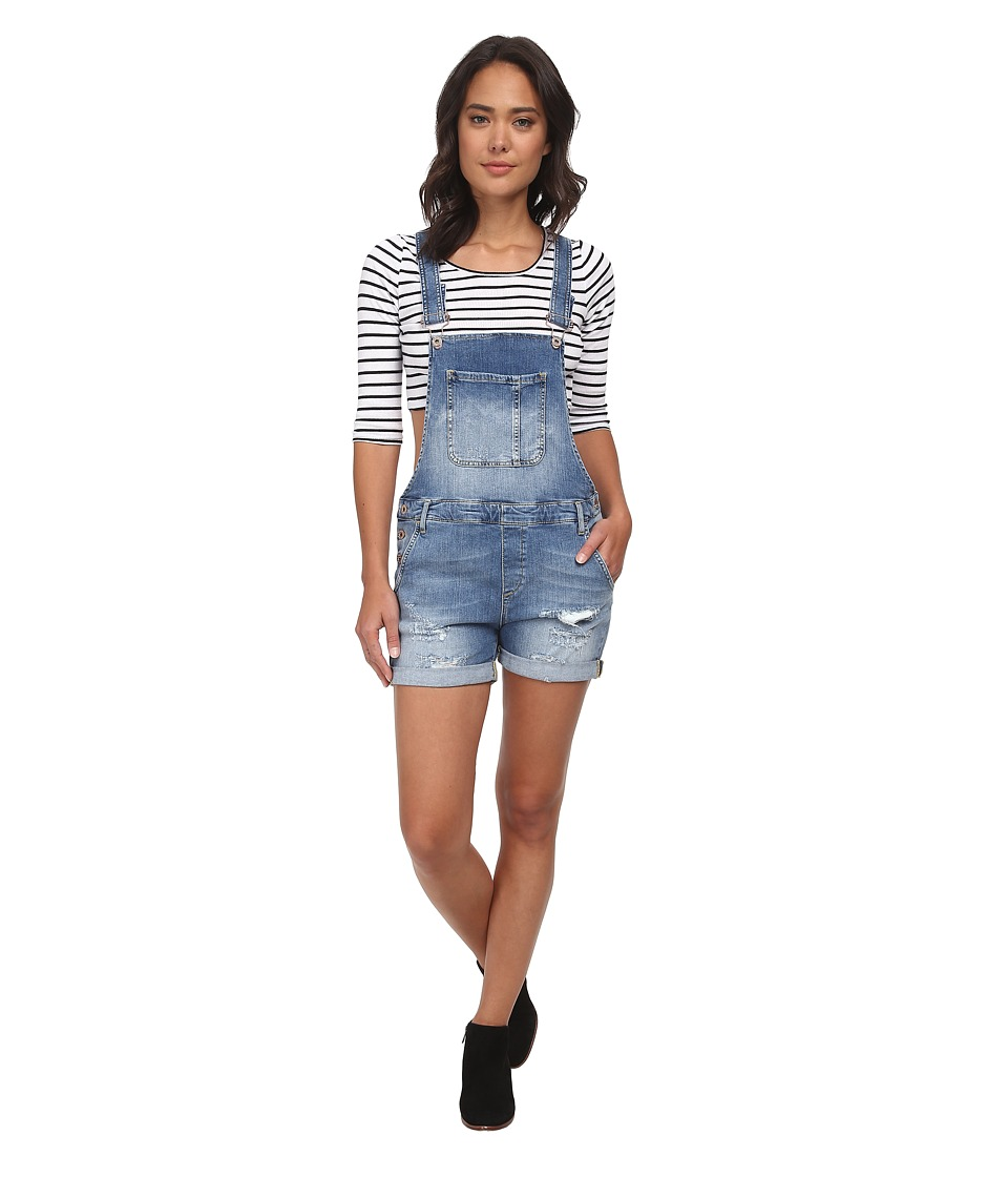 Mavi Jeans - Wanda Denim Shortall in Light Used Vintage (Light Used Vintage) Women's Jumpsuit & Rompers One Piece plus size,  plus size fashion plus size appare