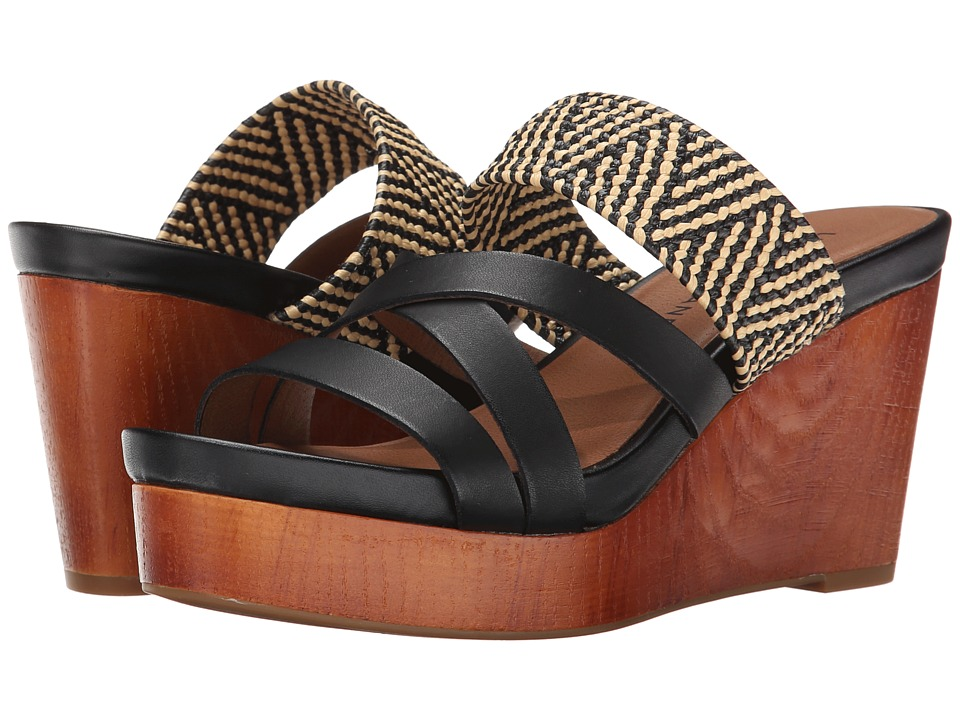 Lucky Brand - Nyloh (Black/Natural/Black) Women's Wedge Shoes