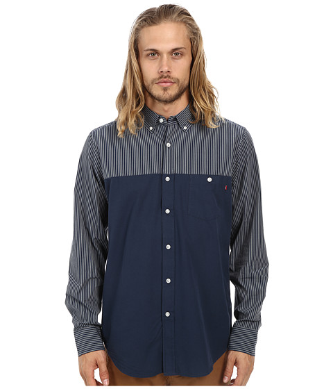 Obey - Bond Dissent Woven (Indigo) Men's Clothing