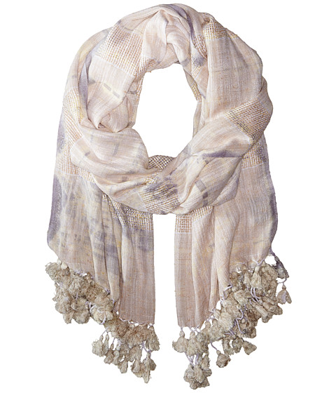 Vince Camuto - Tie-Dye Tassel Wrap (Sesame) Scarves