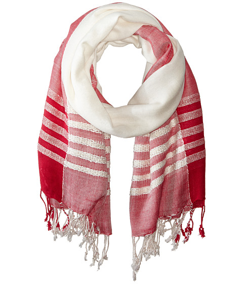 Vince Camuto - Boucle Border Quad (Fiesta Pink) Scarves