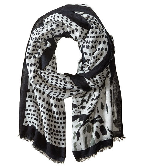 Vince Camuto - Hidden Cheetah (Grey) Scarves