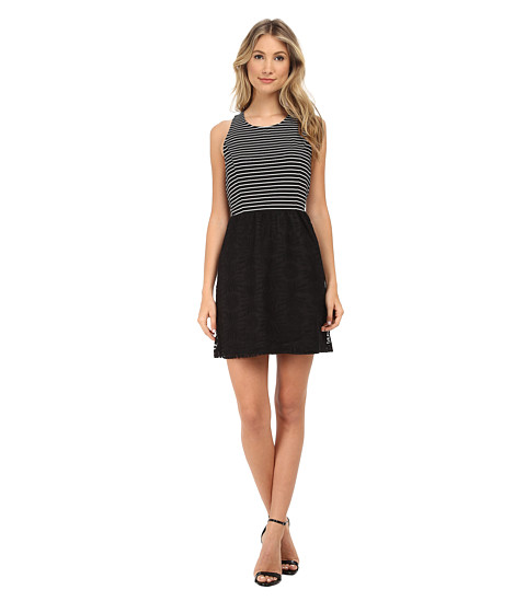 kensie - Geo Lace Dress KS5K7494 (Black Combo) Women