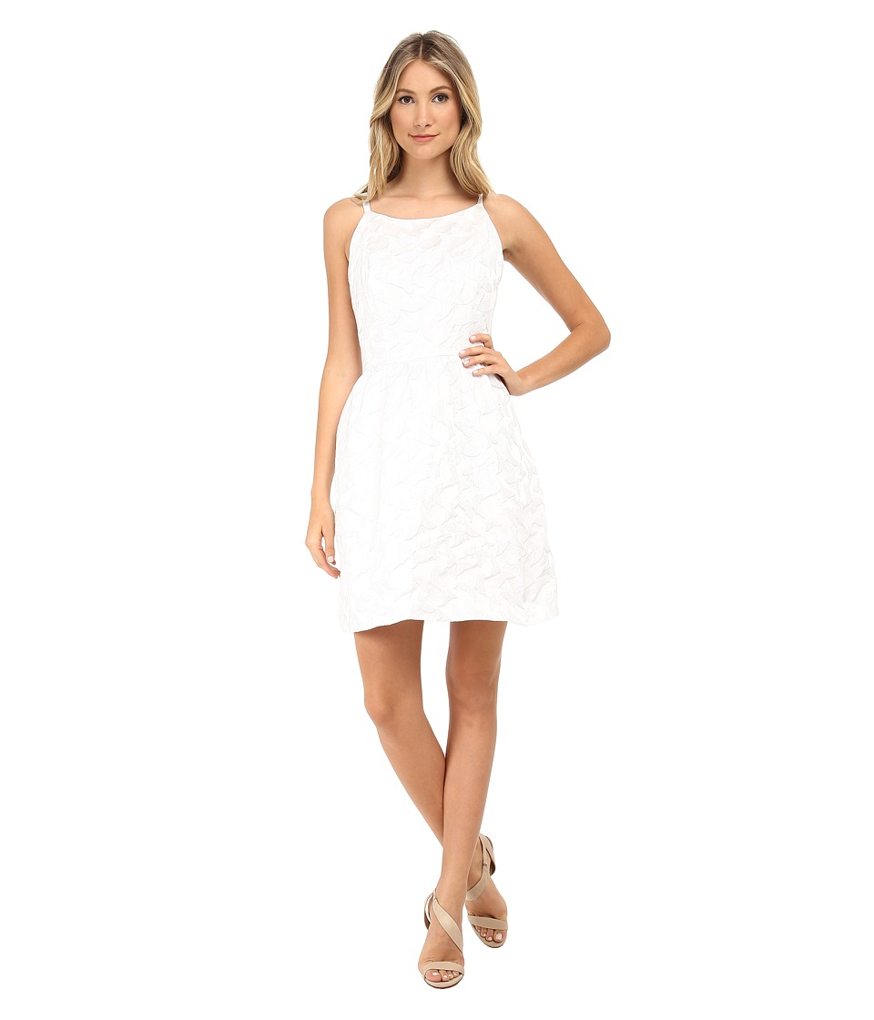 kensie - Butterfly Brocade Dress KS5K7491 (White) Women's Dress