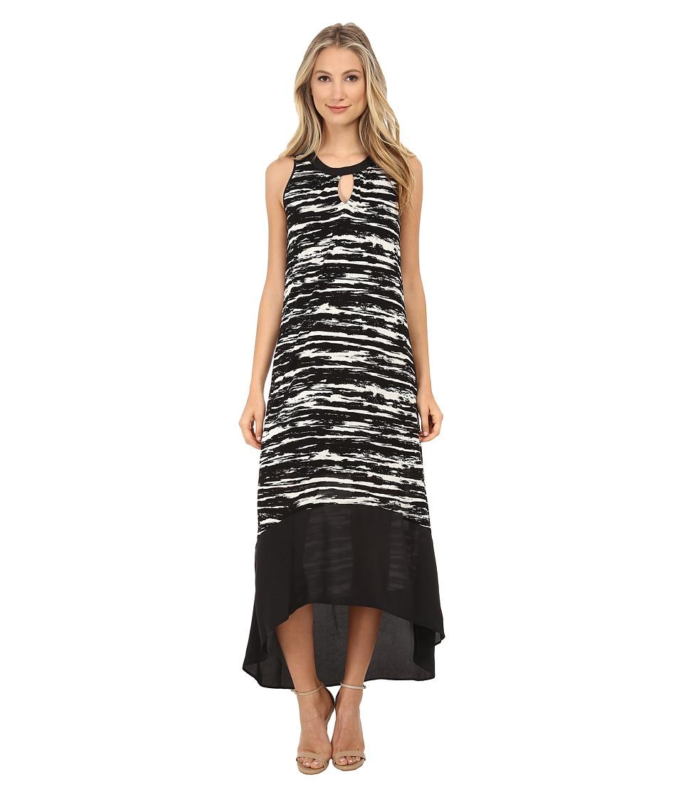 kensie Scratched Stripes Dress KS6K7589 (Vanilla Combo) Women