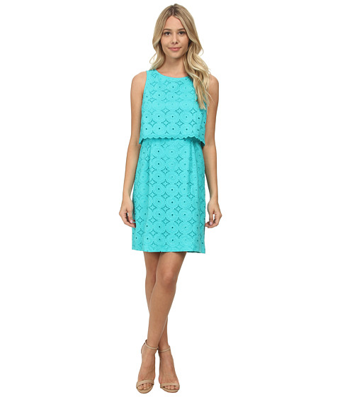 kensie - Eyelet Rings Dress KS6K7607 (Tahiti Teal) Women