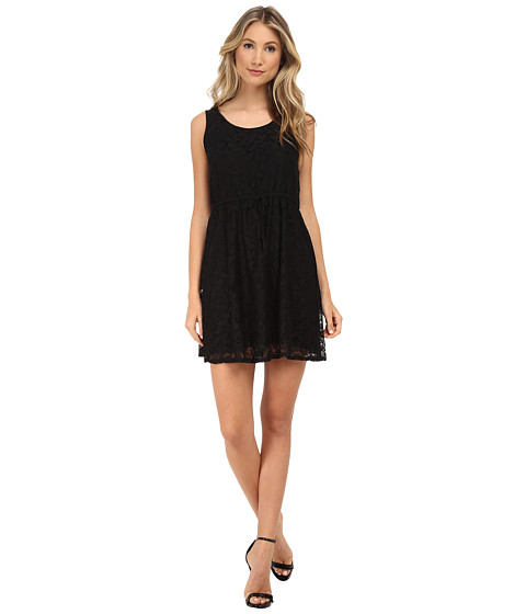 kensie - Botanical Lace Dress KS5K7556 (Black) Women's Dress