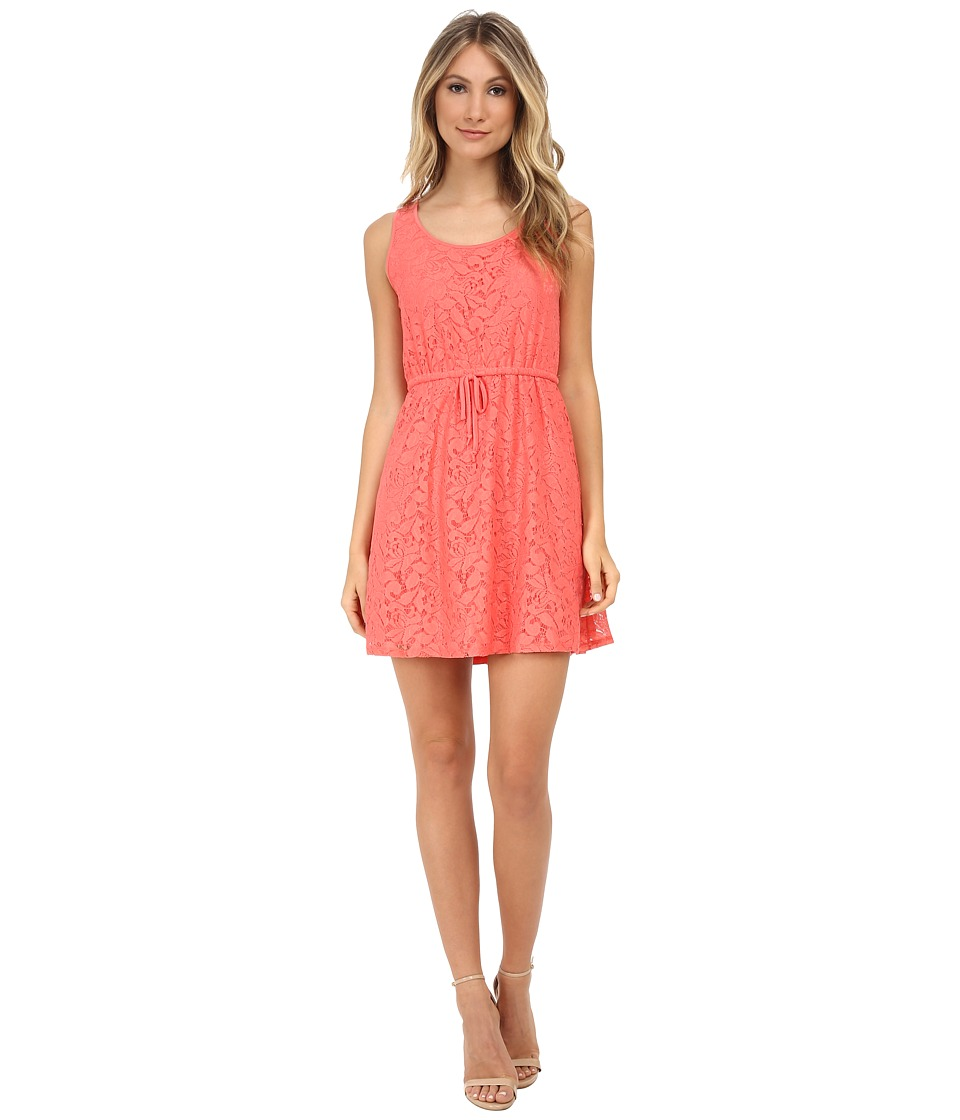 kensie - Botanical Lace Dress KS5K7556 (Coral Tang) Women's Dress