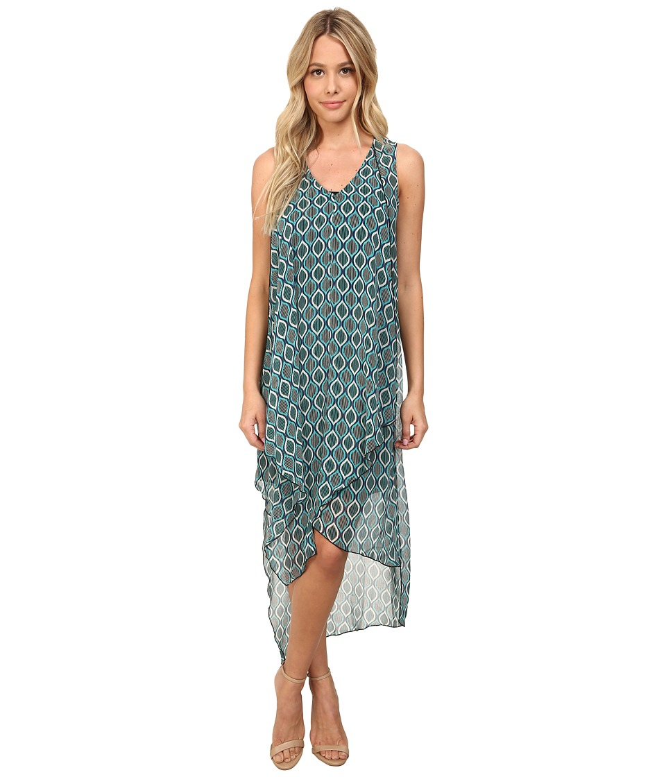 kensie - Lined Ellipse Dress KS6K7614 (Tahiti Teal Combo) Women