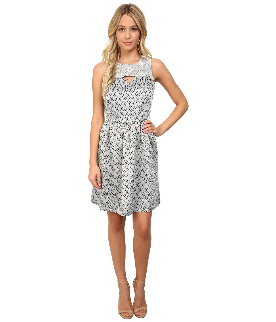 kensie Linear Dot Brocade Dress KS6K7606 (Black Combo) Women