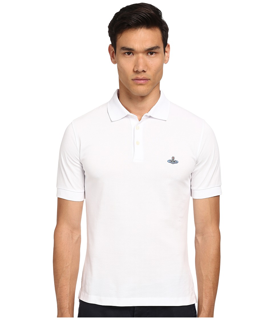 Vivienne Westwood - Piquet Polo (White) Men's Short Sleeve Pullover
