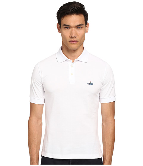 Vivienne Westwood MAN - Piquet Polo (White) Men's Short Sleeve Pullover