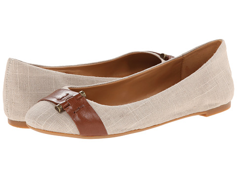 Nine West - Accidental (Natural/Brown Fabric) Women's Flat Shoes