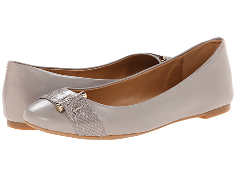 Nine West - Accidental (Grey/Grey Leather) Women's Flat Shoes