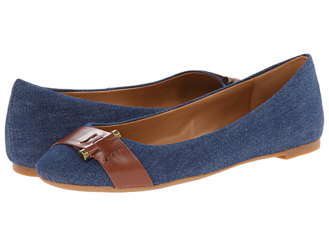 Nine West - Accidental (Blue/Brown Fabric) Women's Flat Shoes