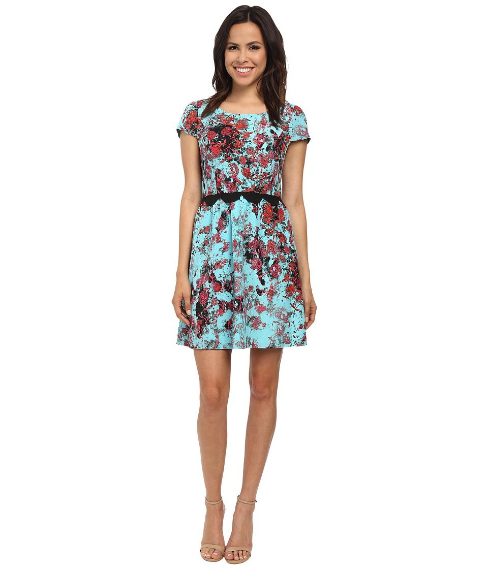 kensie Dandelions Dress KS7K7580 (Blue Haze Combo) Women