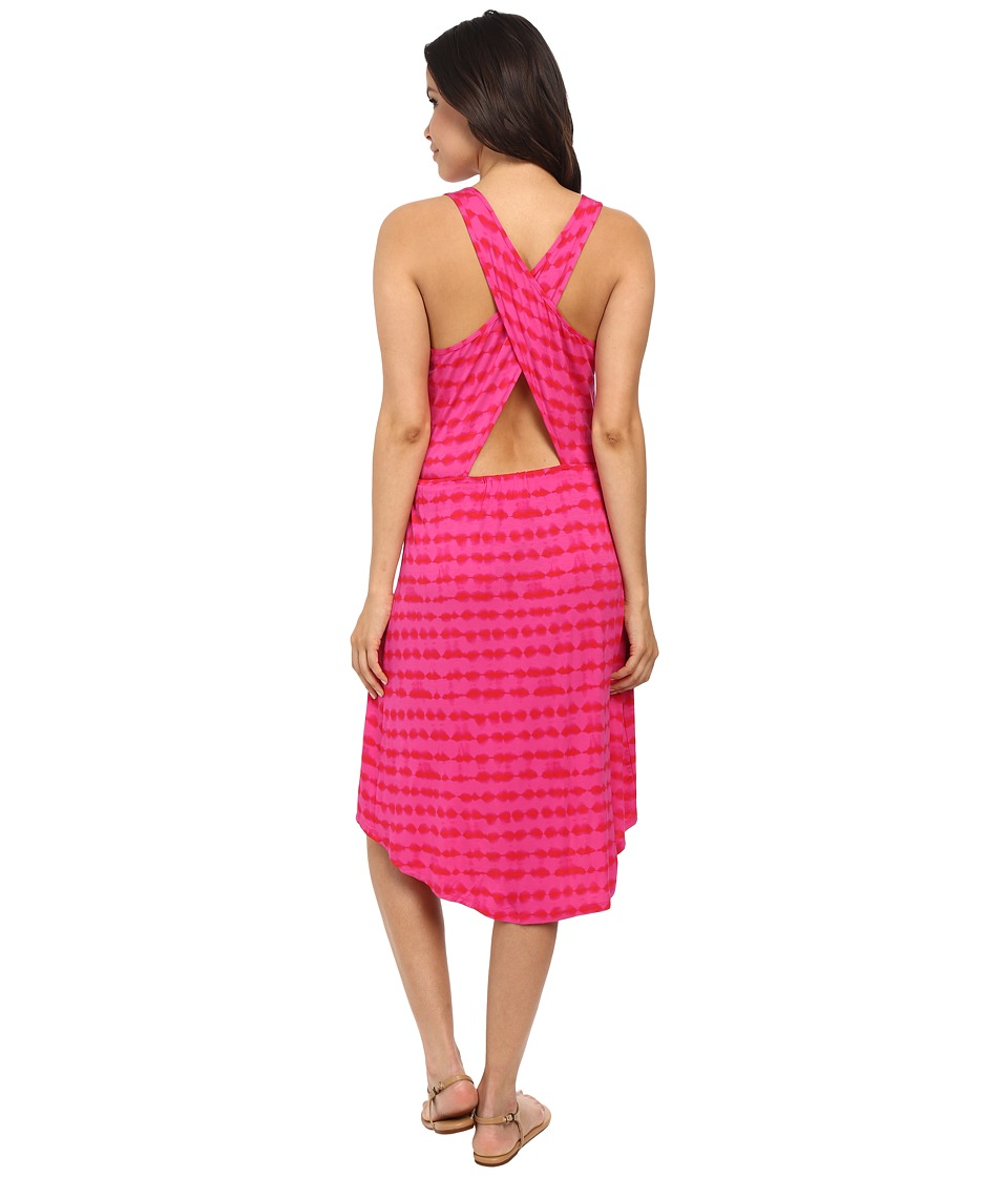 kensie - Tie-Dye Dress KS7K7616 (Tropical Pink) Women's Dress