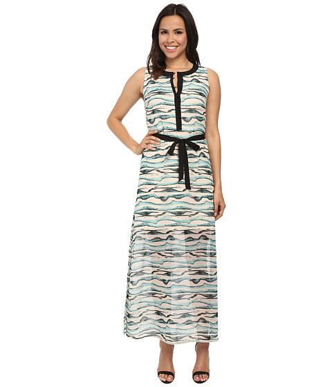 kensie - Watercolor Stripe Dress KS7K7581 (Blue Haze Combo) Women