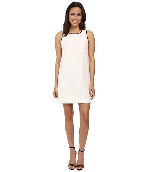 kensie - Diamond Eyelet Dress KS7K7576 (Dove) Women's Dress