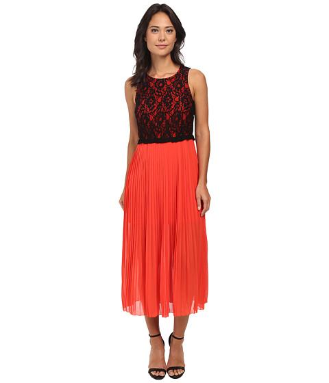 kensie - Crepe Chiffon Dress KS7K7228 (Red Pop Combo) Women's Dress