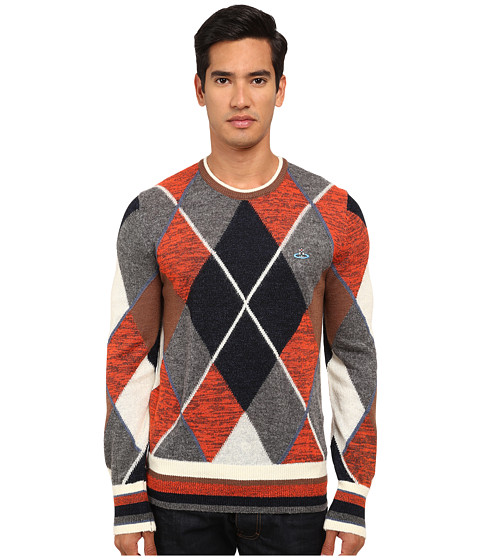 Vivienne Westwood MAN - Classic Argyle Knit Pullover (Multi) Men's Sweater