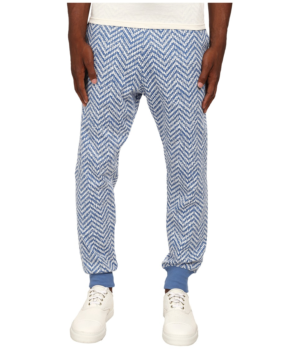 Vivienne Westwood - Jacquard Herringbone Sweatpants (Cream/Blue) Men's Casual Pants