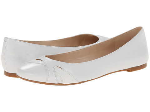 Nine West - Acrobat (White/White Leather) Women's Flat Shoes