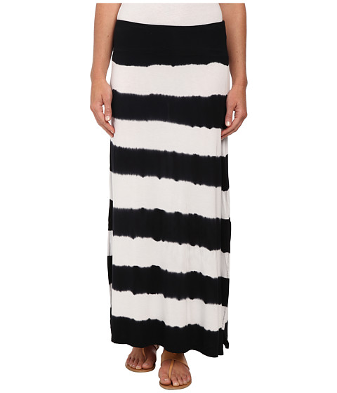 kensie - Stripe Tie-Dye Skirt KS5K6149 (White Combo) Women