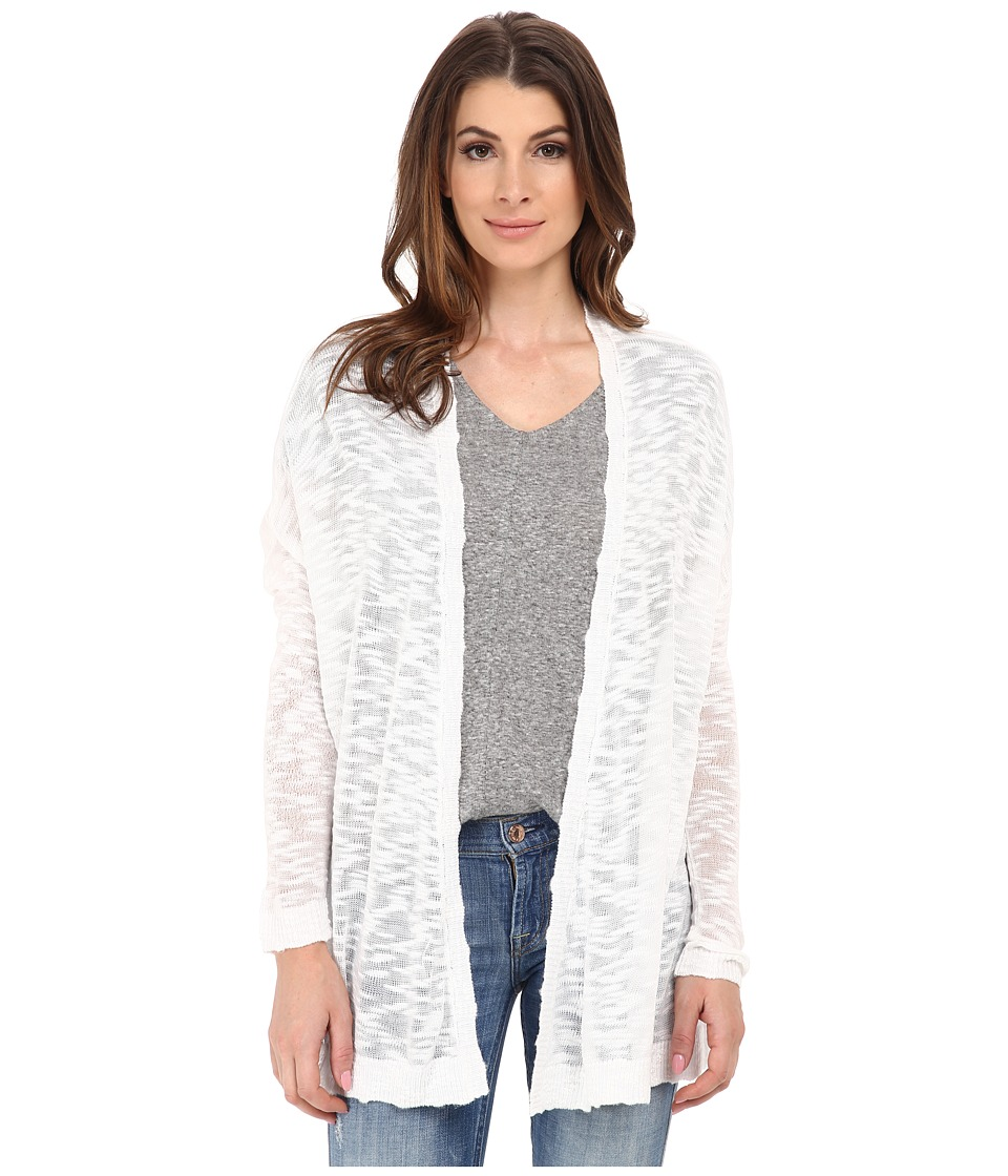 kensie - Fine Gauge Cardigan KS6K5001 (White) Women's Sweater