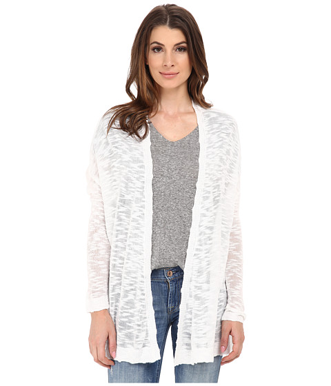 kensie - Fine Gauge Cardigan KS6K5001 (White) Women