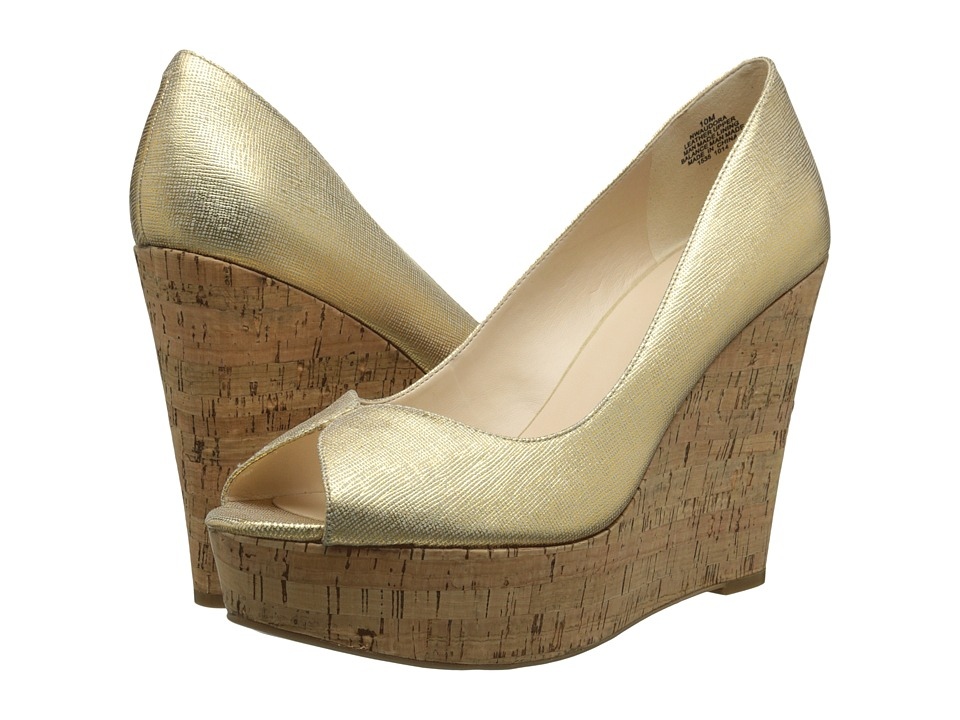 Nine West - Audora (Gold Metallic) Women's Wedge Shoes